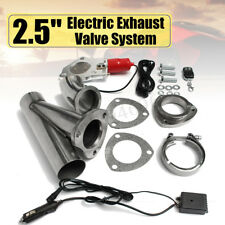 2.5'' Electric Exhaust Valve Catback Downpipe System Kit Remote Cutout E-cut  ^