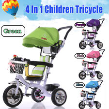4 In1 Children Baby Tricycle Kids Trikes 3 Wheel Bike Stroller Toddler