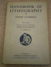 Handbook of Lithography by David Cumming Hardback Book 1948