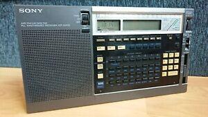 Sony ICF-2001D Portable Digital LCD Battery FM/LW/MW/SW Radio World Receiver