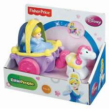 FISHER-PRICE LITTLE PEOPLE DISNEY KLIP KLOP CINDERELLA COACH -FREE SHIPPING