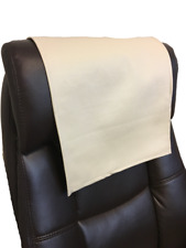 Recliner Head Rest Cover Vinyl  alligator Ivory 14x30 Sofa Love seat Chaise