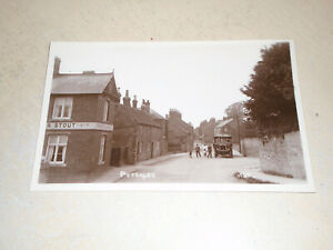 EARLY 1900s POSTCARD - VIEW OF PYTCHLEY VILLAGE, NORTHAMPTONSHIRE