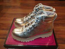 Circus Sam Edelman Kinsley-1 Woman Combat Ankle Work Boots Blush Gold Bronze 8.5