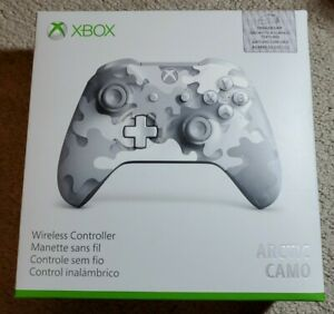Microsoft Xbox One Arctic Camo Wireless Gaming Controller Special Edition New