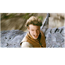 Eragon Ed Speelers Riding Dragon Saphira in Wind 8 x 10 inch photo
