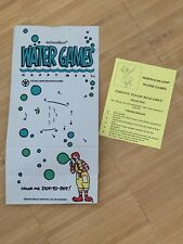 Water Games McDonalds Happy Meal Bag New 1992 Regional Only
