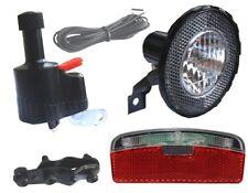 Fahrrad Beleuchtung Set kpl. Dynamo Frontlampe Rücklicht Lampe Licht mit Halter