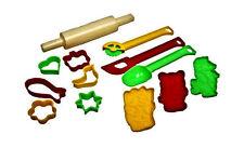 Lado 16pc Baking Set Rolling Pin Shape Cutters Kitchen Play Set 0120
