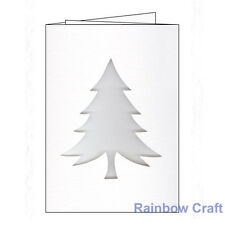 Christmas Tree White Textured Three Panel Cards & White Envelopes