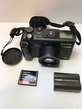 Canon POWER SHOT G5 Black Digital Camera 5.0 W/ Battery And Card