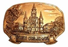 St Louis Cathedral Golden Mardi Gras New Orleans Magnet Party Favor