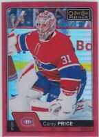 16/17 PLATINUM...CAREY PRICE...RED PRISM...186/199...CARD # 125...CANADIENS