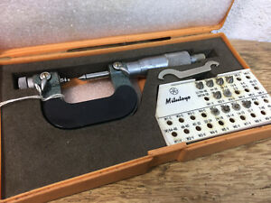 Rare Mitutoyo 126 - 137  0-1 Inch Screw Thread Micrometer Pitch Ratchet Stop