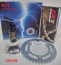 EK1540 Kit Trasmissione PBR Catena + Corona + Pignone per Honda XL 650 Transalp
