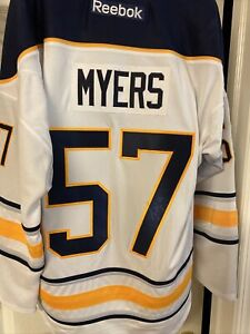 Buffalo Sabres Tyler Myers White Reebok L Autographed Replica Jersey