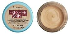 3 X Rimmel London Fresher Skin Foundation Shade 103 True Ivory 25 Ml