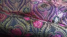 Rich pink, gold and black Brocade fabric 1m. Hard to find. UK SELLER