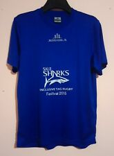 SALE SHARKS RUGBY UNION T SHIRT INCLUSIVE TAG RUGBY FESTIVAL 2015 SIZE M 42 VGC