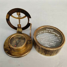 Collection Chinese antique pure copper Hand-made Nautical equipment compass