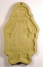 Brown Bag Cookie Art Cookie Mold ~ Girl Folk Doll (Raggedy Ann) 1988