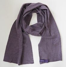 NWT RALPH LAUREN PURPLE Label 100% CASHMERE Long Scarf