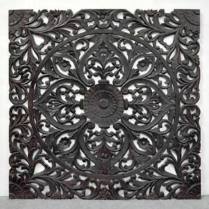 MADE TO ORDER Hand Carved BedHead Bed Head Headboard Wall Panel Queen 155cm DARK