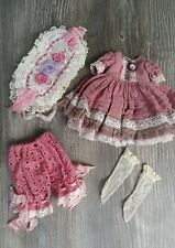 Beautiful Silk Outfit and bonnet for Little Darling Dianna Effner My Meadow doll