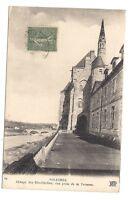 solesmes  abbaye des bénédictins ,vue prise de la terrasse