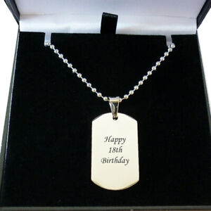 Dogtag Necklace for Man or Boy, Personalised with Any Engraving, High Quality