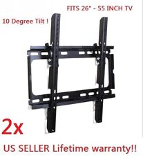 2xTilt LCD 803 LED Plasma Flat  TV Wall Mount 26 32 40 42 46 50 52 55""