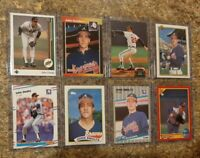 (8) John Smoltz 1988 Fleer 1989 Upper Donruss Topps Rookie 1990 2nd Card lot RC