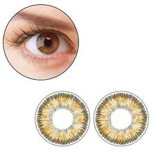 2pcs Contact Lenses Fresh Color Soft Big Eye Protection Cosmetic Lens Brown AS