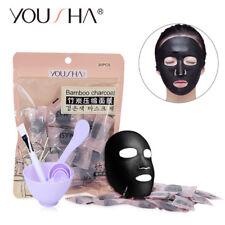 30pcs Compressed Facial Mask Sheet Cotton Skin Care DIY Face Mask Bowl Set 1209