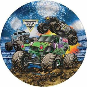 Monster Truck Jam Grave Digger Lunch Plates Birthday Party Supplies 8 Ct