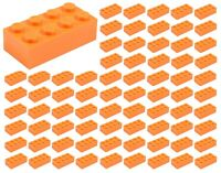 ☀️100 NEW LEGO 2x4 ORANGE Bricks (ID 3001) BULK Parts Halloween Pumpkin