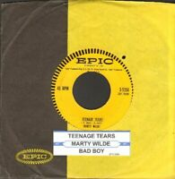 Wilde, Marty - Teenage Tears Vinyl 45 rpm record Free Shipping
