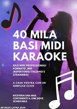 40 MILA BASI MIDI KARAOKE PROFESSIONALI AGGIORNATE 2020 - DOWNLOAD IMMEDIATO