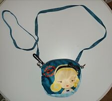 Small Harajuku Lovers Blonde Shoulder Bag Purse Blue and Yellow