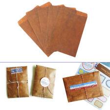 5pc Novelty Creative Vintage Style Kraft Paper Envelope Gift Postcard Stationery