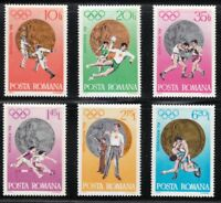 Romania 1972 MNH Mi 3060-3065 Sc 2381-2386 Olympic Games, Munich **