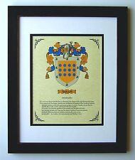 HERALDRY COAT OF ARMS ~ RAMOS FAMILY CREST ~ FRAMED