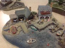 Danbury Mint: Fisherman's Cove by Colin Gough - Fishing Village Sculpture 4 pcs