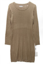 CALVIN KLEIN $134 NEW 13821 Cable Knit Sweater Womens Dress PL
