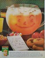 1960 Kool Aid Halloween Art Jack O Lantern Face Packets Vintage Print Ad