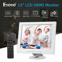 "12"" TFT LCD HDMI Monitor 800x600 support AV BNC VGA USB with Remote W/ Speaker"