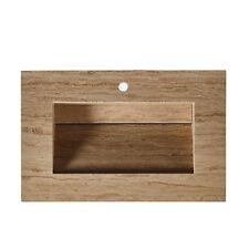"36"" Bathroom Vanity Travertine Stone Top w/ Integrated Ramp Sink (36"" W x 23"" D)"