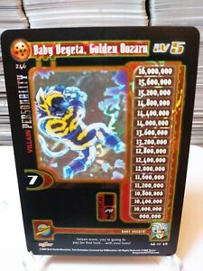 DBZ CCG DRAGON BALL Z GT BABY VEGETA, GOLDEN OOZARU LV5 #246 ALT FOIL ULTRA RARE