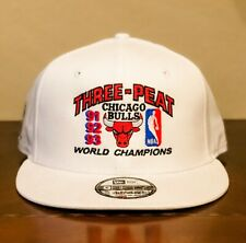 NEW Chicago Bulls Three-Peat NBA Championship Hat