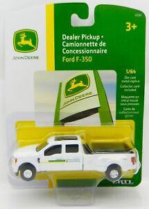 ERTL 1:64 JOHN DEERE 2017 Ford F-350 Crew Cab DUALLY Pickup Dealership Truck NIP